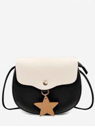 Contrasting Color Star Casual Sling Bag -