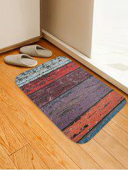 Colorful Wood Grain Pattern Water Absorption Area Rug -