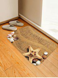 Summer Beach Pattern Water Absorption Area Rug -