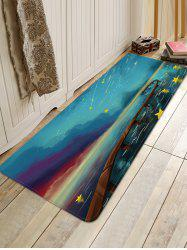 Meteor Shower Pattern Water Absorption Floor Rug -