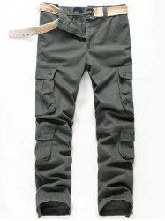 Multi Pockets Cuff Drawstring Cargo Casual Pants -