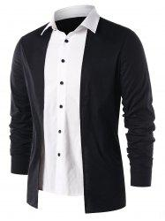 Faux Two Piece Button Up Shirt -