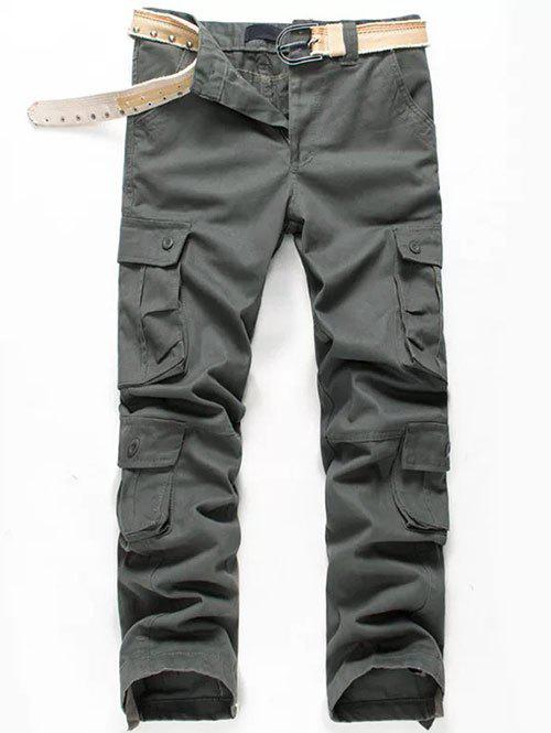 Store Multi Pockets Cuff Drawstring Cargo Casual Pants