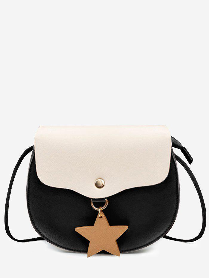 Store Contrasting Color Star Casual Sling Bag