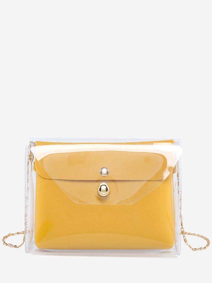 Affordable Envelope Transparent 2 Pieces Crossbody Bag Set