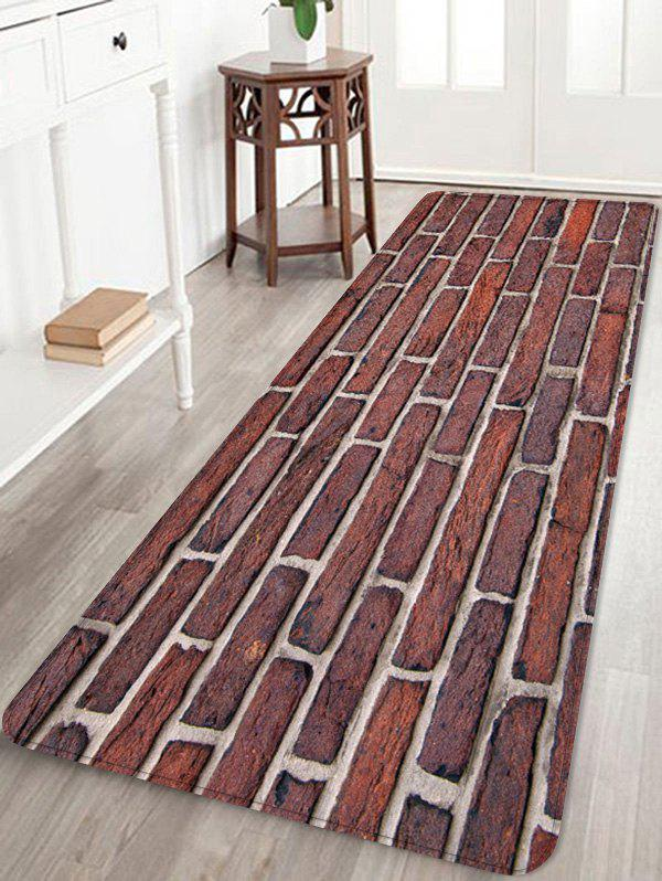 Latest Brick Wall Pattern Water Absorption Area Rug
