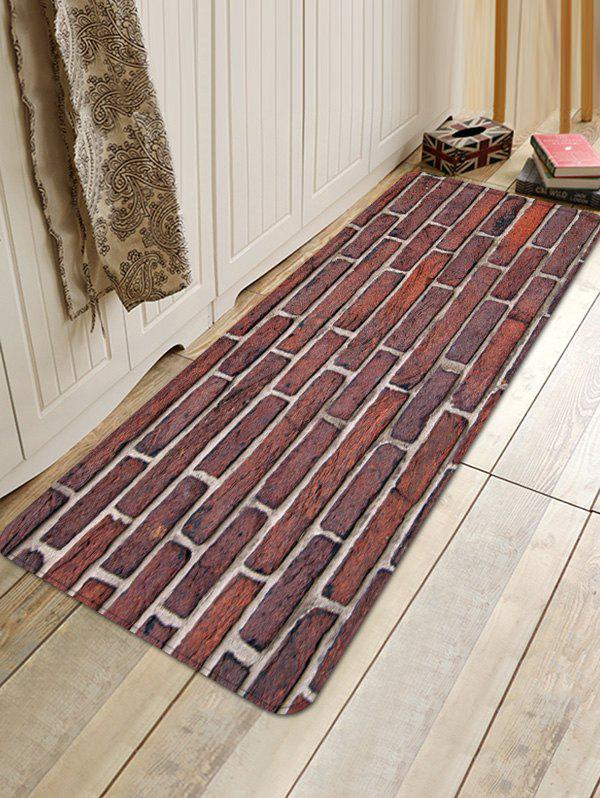 Unique Brick Wall Pattern Water Absorption Area Rug