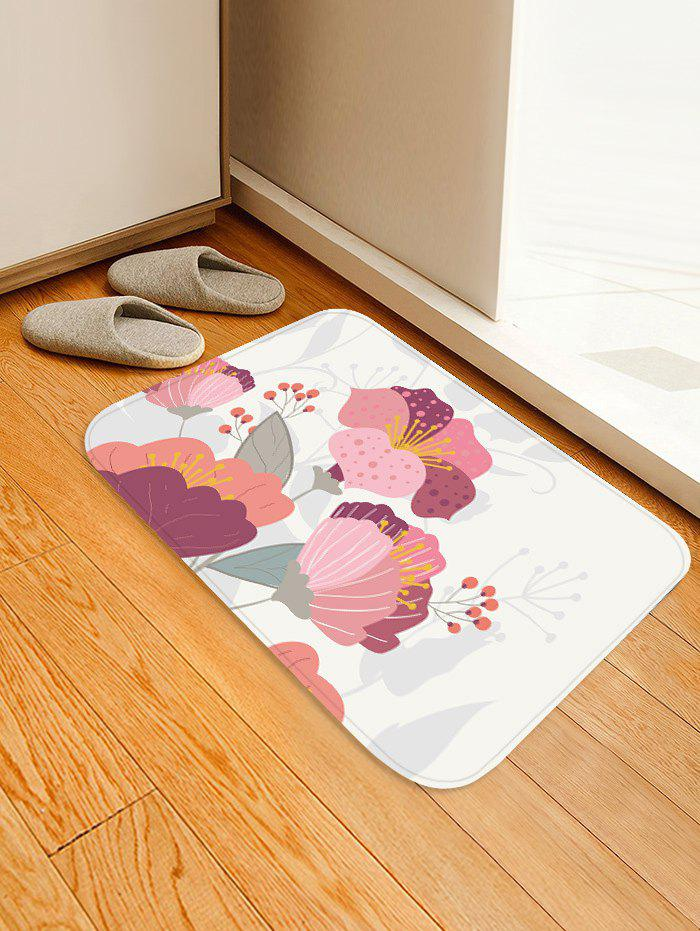 Unique Flowers Pattern Water Absorption Area Rug
