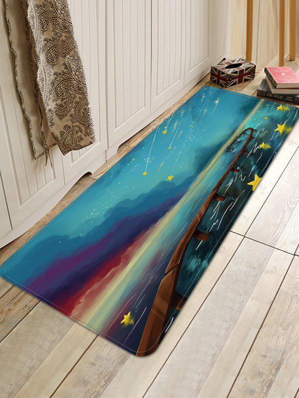 Fashion Meteor Shower Pattern Water Absorption Floor Rug