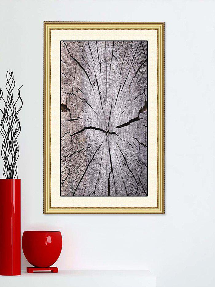 New Broken Wood Printed Wall Art Stickers