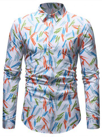 Colorful Stripes Painting Long Sleeve Shirt