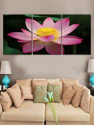 Lotus Flower Printed Wall Decor Canvas Paintings -