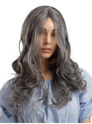 Long Center Parting Wavy Party Synthetic Wig -