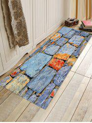 Stone Wall Pattern Anti-skid Area Rug -
