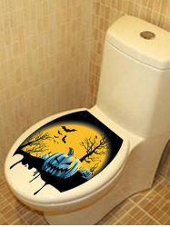 Halloween Night Pattern Bathroom Toilet Sticker -