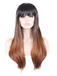 Long Full Bang Straight Colormix Synthetic Wig -
