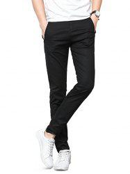 Straight Leg Zip Fly Casual Pants -