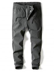 Straight Leg Zip Fly Pants -