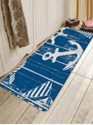 Anchor Pattern Water Absorption Area Rug -