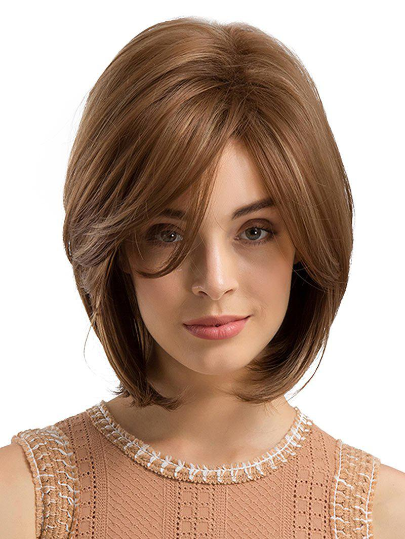 Online Inclined Bang Short Straight Synthetic Wig