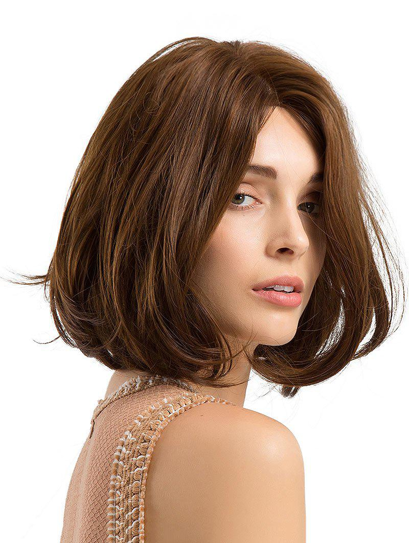 Affordable Oblique Bang Short Straight Bob Synthetic Wig