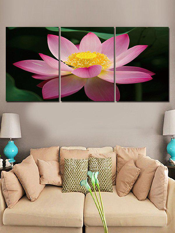 Store Lotus Flower Printed Wall Decor Canvas Paintings
