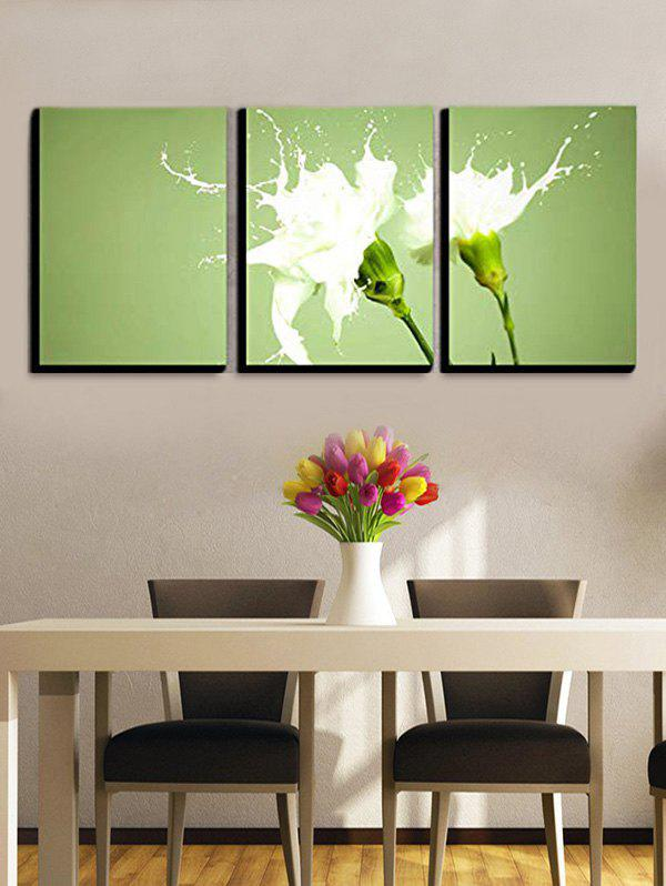 Hot Wall Decor Milk Flower Printed Canvas Paintings
