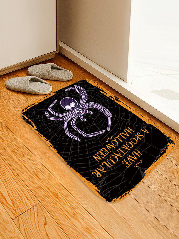 Discount Halloween Spider Pattern Water Absorption Area Rug