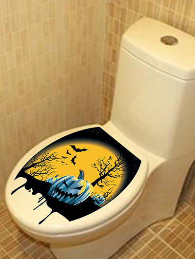 Affordable Halloween Night Pattern Bathroom Toilet Sticker