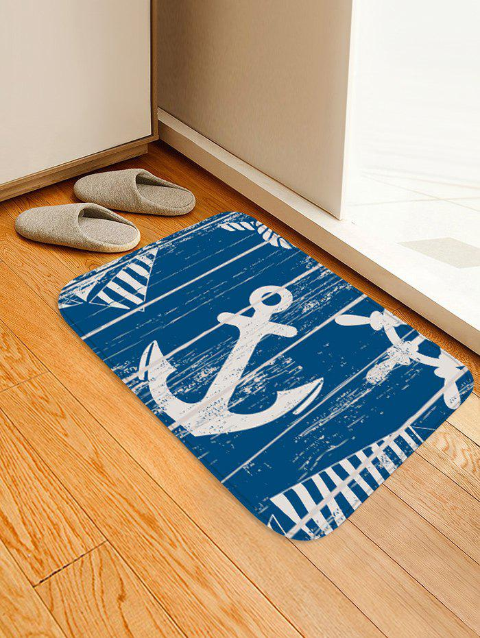 Sale Anchor Pattern Water Absorption Area Rug