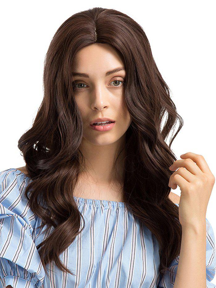 Latest Long Center Parting Wavy Synthetic Wig