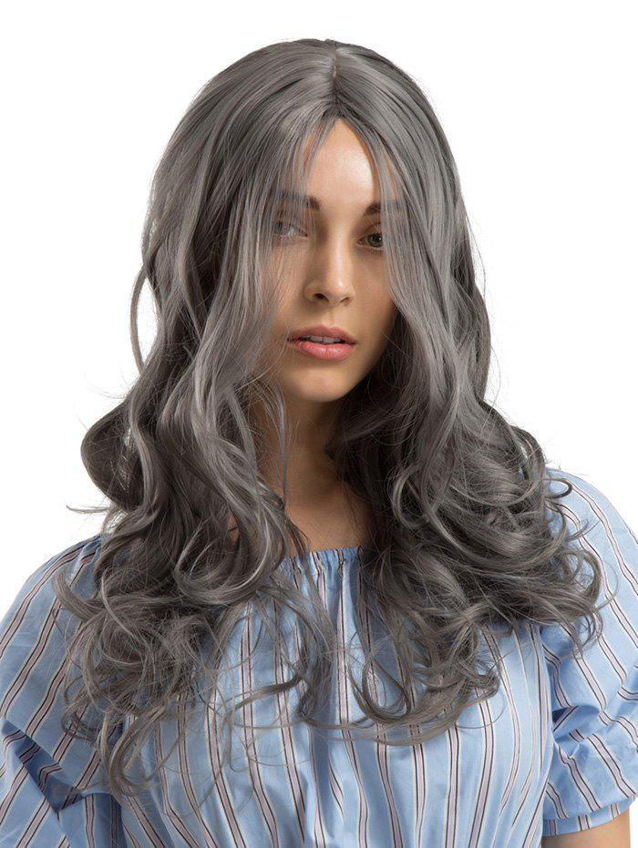 Sale Long Center Parting Wavy Party Synthetic Wig