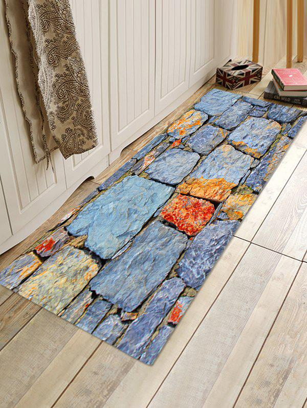 Online Stone Wall Pattern Anti-skid Area Rug