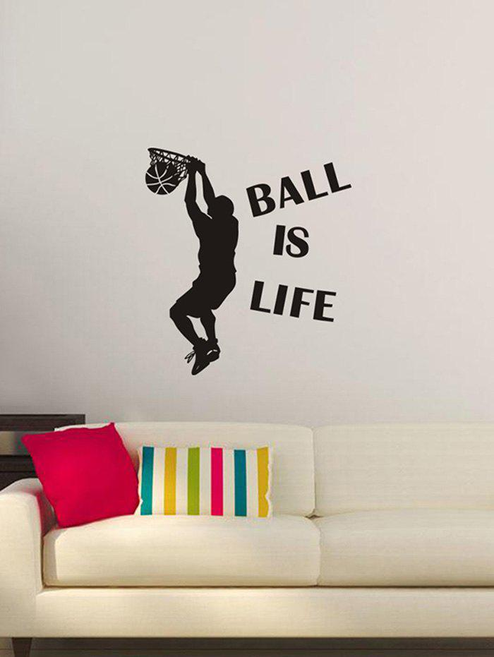 Unique BALL IS LIFE Print Wall Stickers for Bedroom