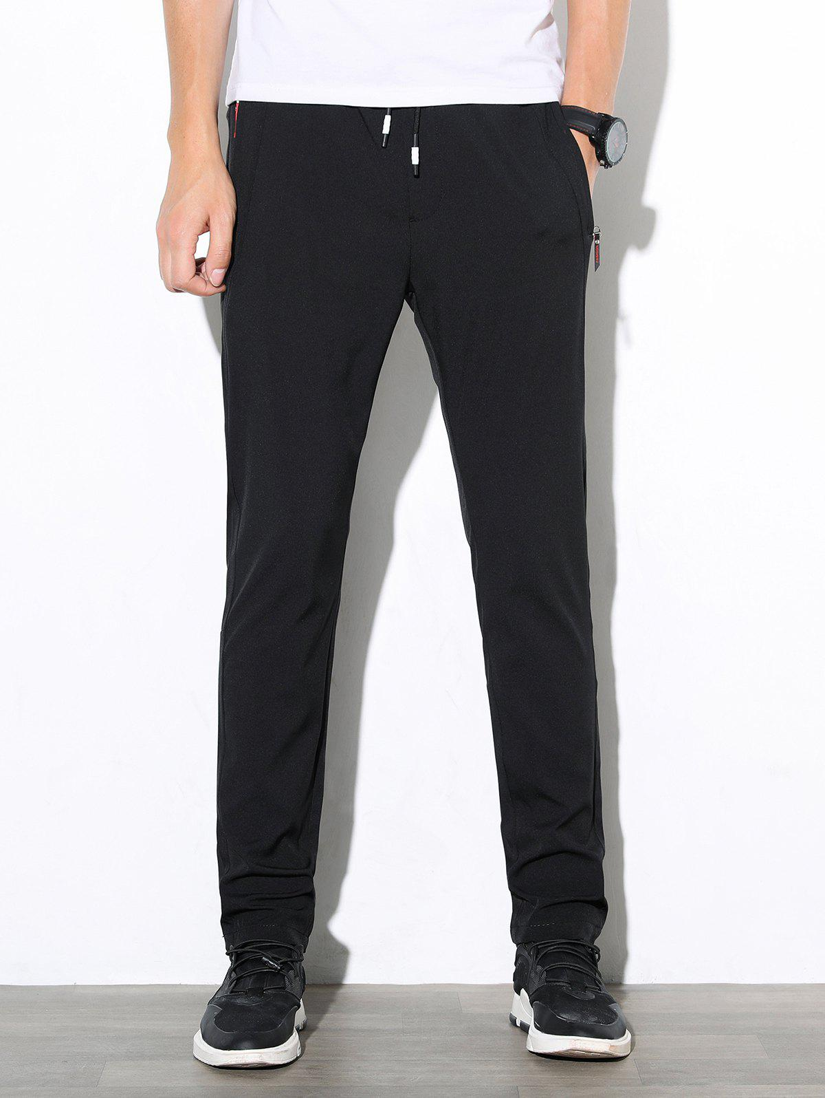 Fancy Casual Solid Color Straight Leg Pants
