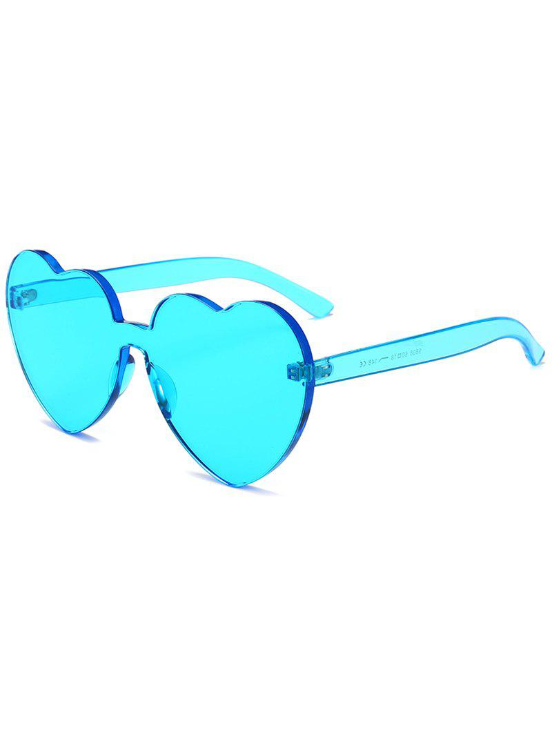 Fancy Novelty Heart Lens One-piece Sunglasses