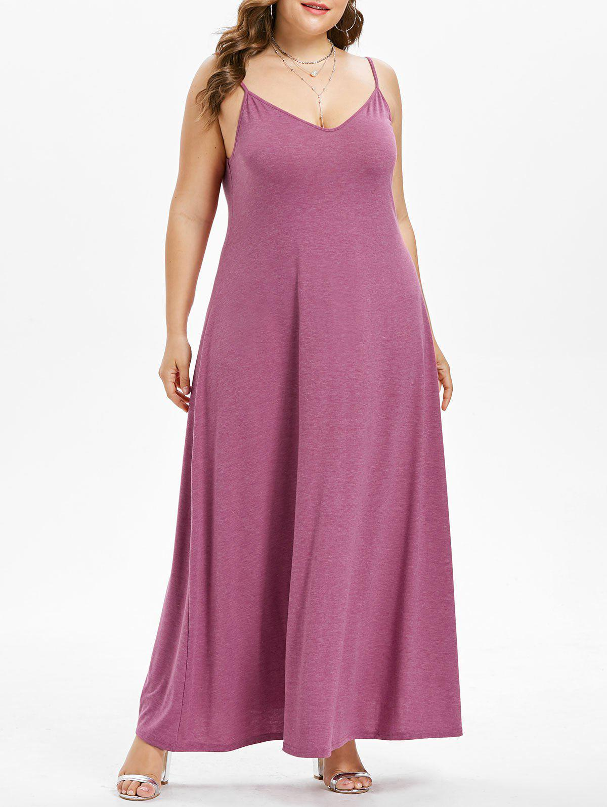 cf5ba765ad 26% OFF  Plus Size Spaghetti Strap Maxi Dress