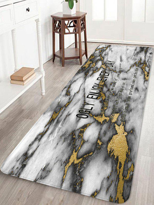 Outfits Opalized Marble Print Anti-skid Area Rug