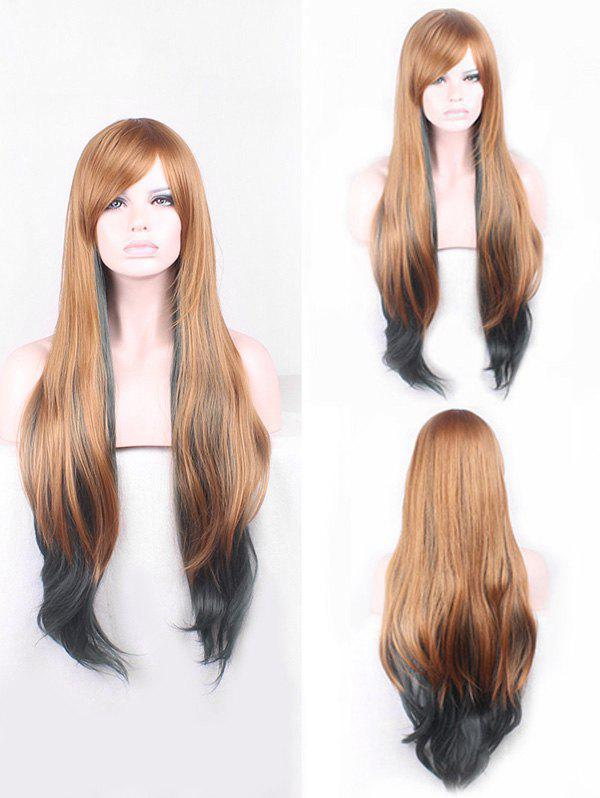 Outfit Long Side Bang Straight Colormix Cosplay Synthetic Wig