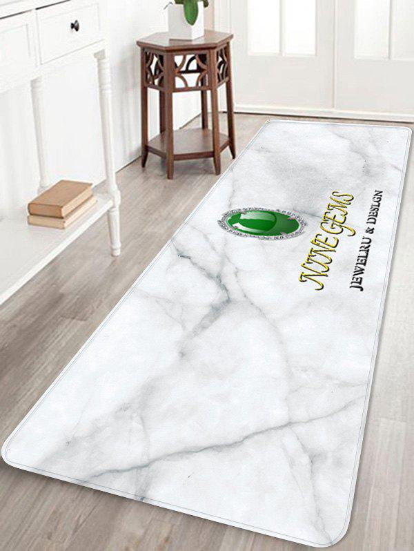 Hot Faux Emerald Letter Print Anti-skid Area Rug