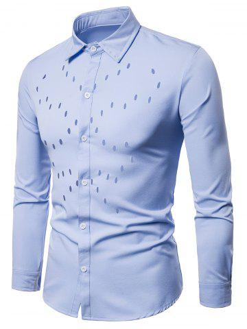 Solid Color Chest Hollow Casual Shirt