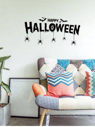 Halloween Bat Spider Print Wall Sticker for Bedroom -