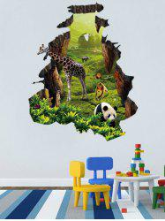 Natural Forest Animal Home Pattern Wall Decals -