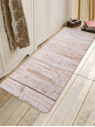 Wood Flooring Pattern Water Absorption Area Rug -