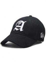 Capital A Embroidery Striped Snapback Hat -