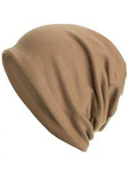 Outdoor Solid Color Open Top Warm Beanie -