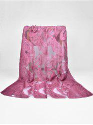 Élégant Feather Long Sheer Foulard -
