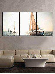 Ocean Sailing Boat Print Unframed Split Canvas Paintings -