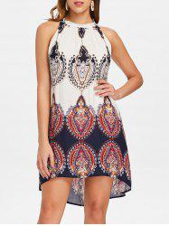 Bohemian Ethnic Print Swing Dress -