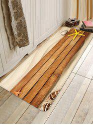 Beach Wood Grain Pattern Water Absorption Area Rug -